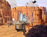 Desert, insurgent camp