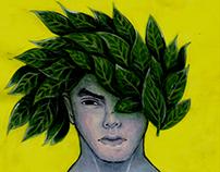 Hombre hojas