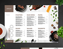 Single Dish Restaurant Food Menu