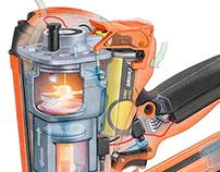 Digital Illustration of Paslode Nail Gun
