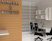 Projeto de interiores para escritorio de advogados