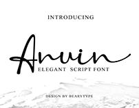 Anuin Script Font
