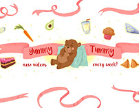 Yummy Tummy! Illustrated Logo