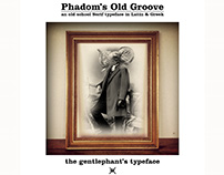 Phadom's Old Groove Typeface