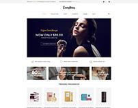Shopify theme & Magento theme design for perfume store