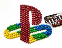 PlayStation (PS1) logo (made of 270 M&M's)