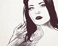 PORTRAIT ROTOSCOPE ANIMATION. personal project