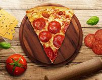 Retoque de Alimentos - Pizza