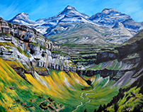 Monte Perdido. Acrylic on canvas