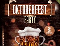 Oktoberfest Party - Free PSD Flyer Template