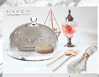 Naked Me Branding Design (Luxury Fast food Project)