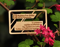 Unique Wooden Business Card