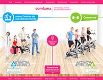 Sitio web Gimnasios y CAPF Comfama