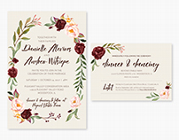 Romantic Fall Floral Wedding Suite
