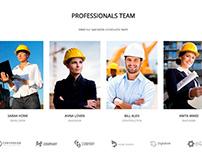 Construction WordPress Theme - Team Section