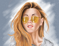 Girl with Yellow Shades