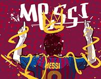 Goal - Messi and Ronaldo Illustrations for Editorial