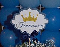Material Gráfico e Decoração - Chá do Francisco