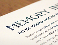 Memory Typeface