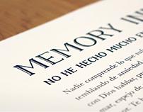 Memory Typeface