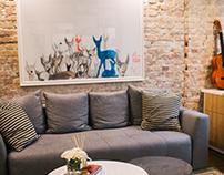 Interior Design Project_Boho Apartment, Belgrade
