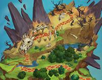 Floating islands map