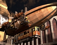 Steampunk : Taking the tramway