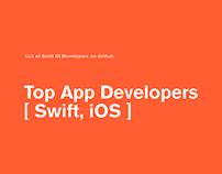 Top App Developers [Swift, iOS]