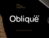 OBLIQUE - FREE SANS SERIF TYPEFACE