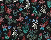 Wildflowers. Fabric series fall-winter 17 for Varvara