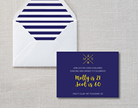 Invitation design for a nautical-themed Birthday party