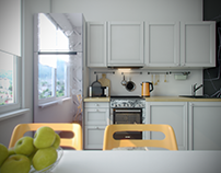 Сommercial work, visualization of kitchen