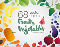 Fruits-n-vegetables (vector objects)