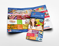 Supermarket Products Tri-Fold Catalog Brochure Template