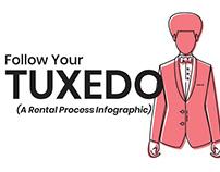 Follow Your Tuxedo | A Rental Process Infographic