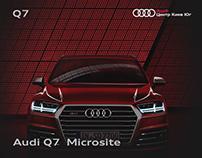 Audi Q7 Microsite