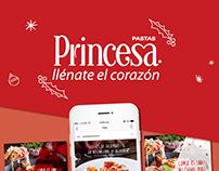 Redes sociales de Pastas Princesa