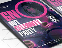 GNO Out Flyer - PSD Template