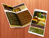 Blue water Massage & Spa : Bi-fold Discount Brochure
