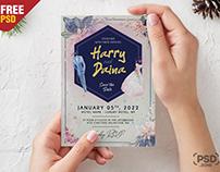 Wedding Invitation Card PSD Template