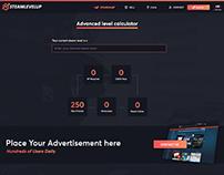 SteamLevelUp.com - Website Mockup