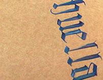 Paneles tipográficos en UNLa. Espacio Tipográfico I