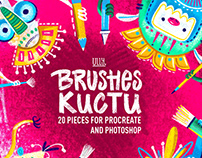 TEXTURED BRUSHES for Procreate and Photoshop