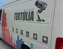Decoration with vinyl - Tertulia Live Music van