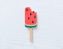 Watermelon Ice Cream | Stop motion animation