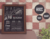 Chalkboard Restaurant Mockup