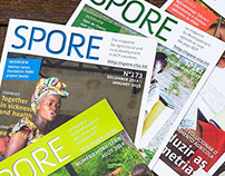 EDITORIAL DESIGN/Spore magazine layout