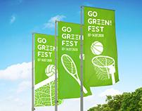 Identity for sport festival GO GREEN! FEST