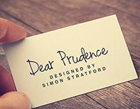 Dear Prudence typeface