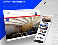 Libya News Website Redesign